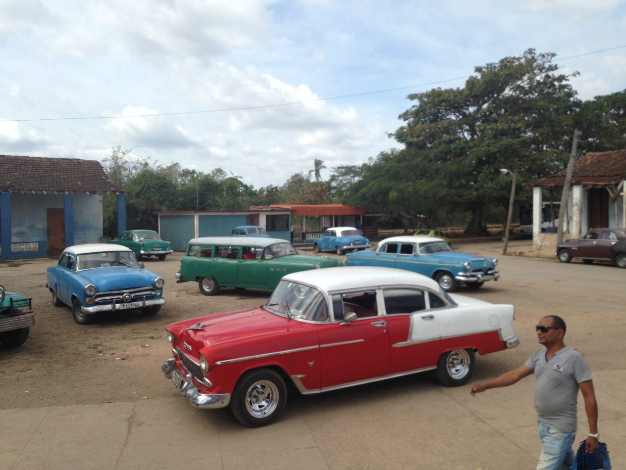 Because of trade restrictions between the United States and Cuba put in place in 1960, many cars in the country are from the 1950s or earlier.