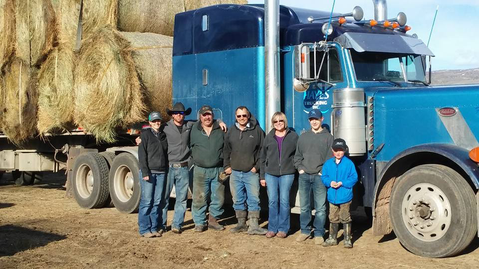A group of Routt County ranchers raised money and donated some hay to fellow ranchers in Kansas who were devastated by recent wildfires. The Routt County residents who contributed included, from left, Kelsey Samuelson, Kyle Monger, Doug Monger, Donnie Hayes, Lauretta Monger, Keenan Hayes and Chance Jones.