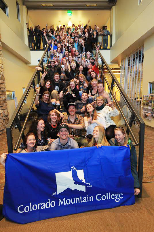 Colorado Mountain College's Alpine Campus had its first reunion party Friday for its 2004 graduates.