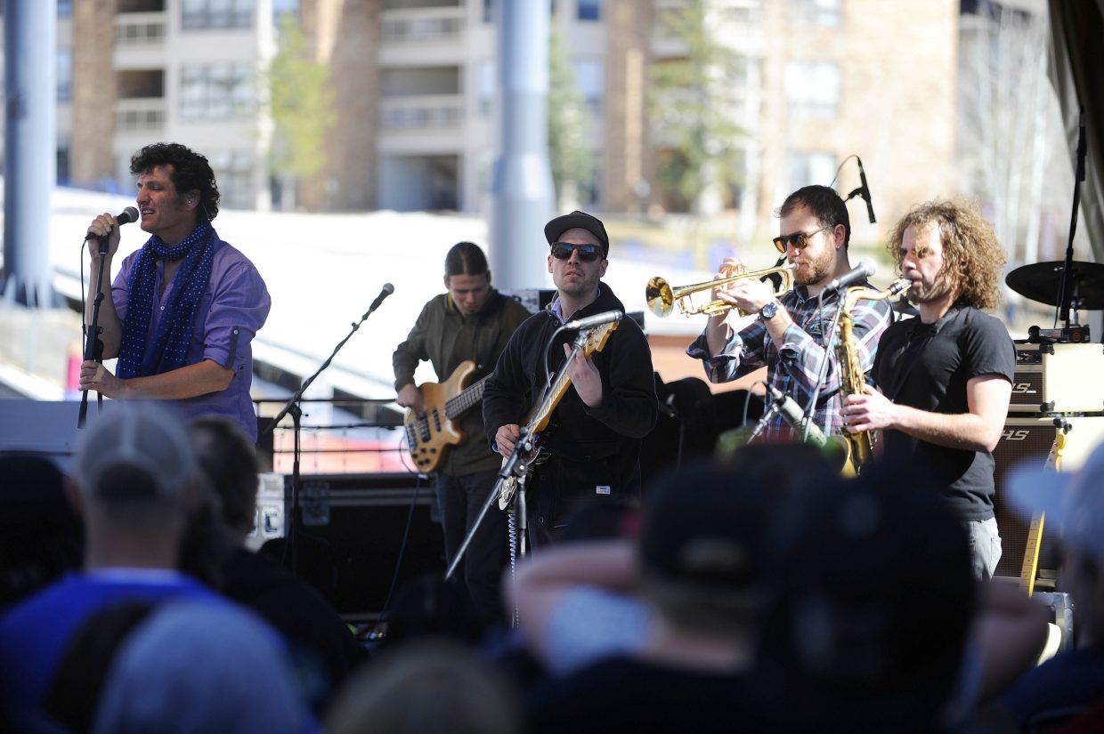 The Motet performs in Gondola Square in April 2014. The seven-piece band returns to Steamboat Springs on Saturday for he second show of the 2017 Bud Light Rocks the Boat Free Concert Series.
