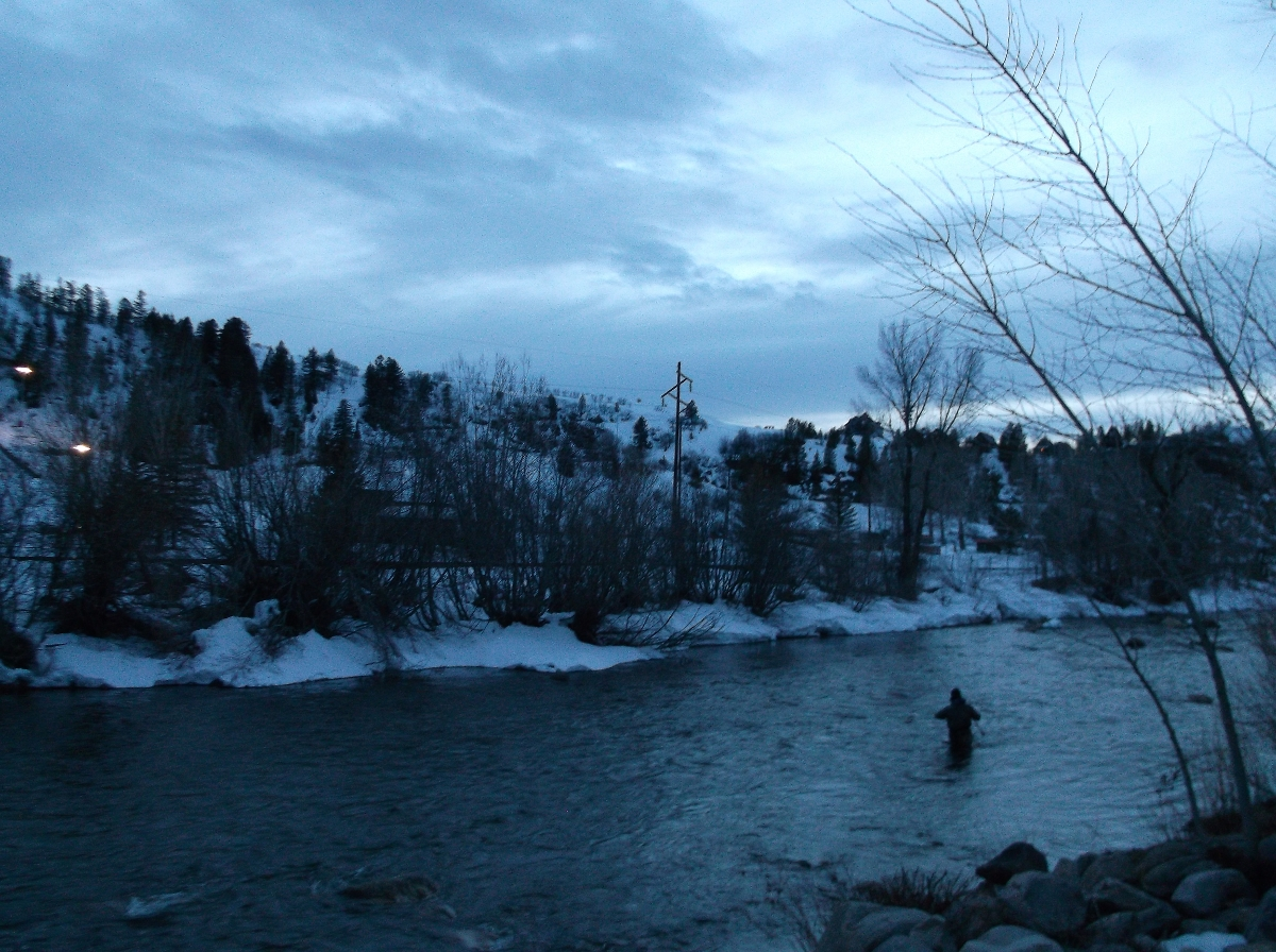 Fisherman in the Yampa River. Submitted by: Rhys Jones