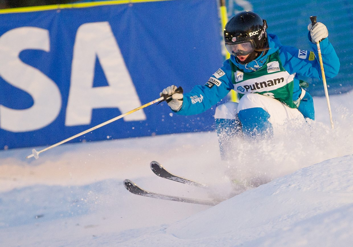 Steamboat Springs skier Jaelin Kauf competes in a World Cup event at Deer Valley Resort in Utah earlier this season. Kauf said even she didn't expect success so quickly on the World Cup circuit, but she found it, earning a podium finish and Rookie of the Year honors.