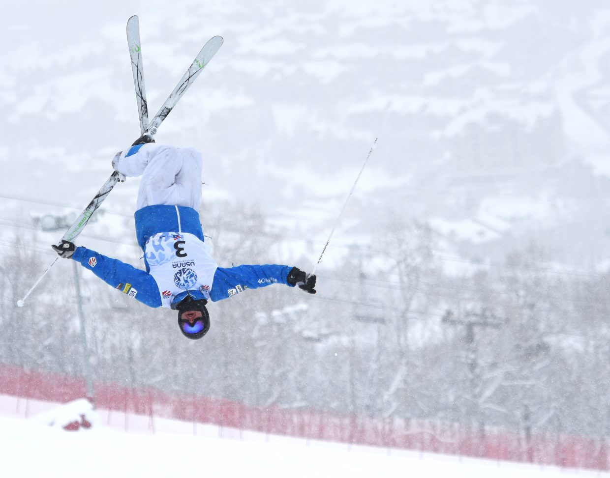 Dylan Walczyk flies high at Steamboat Ski Area on Thursday during the U.S. Freestyle National Championships.