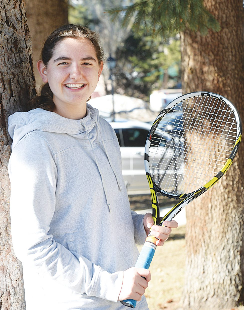 Getting back on the court is the goal of Steamboat Springs High School senior Emi Thompson. Thompson's senior season was delayed, but on Thursday, she returned to the court for the first matches of the year.