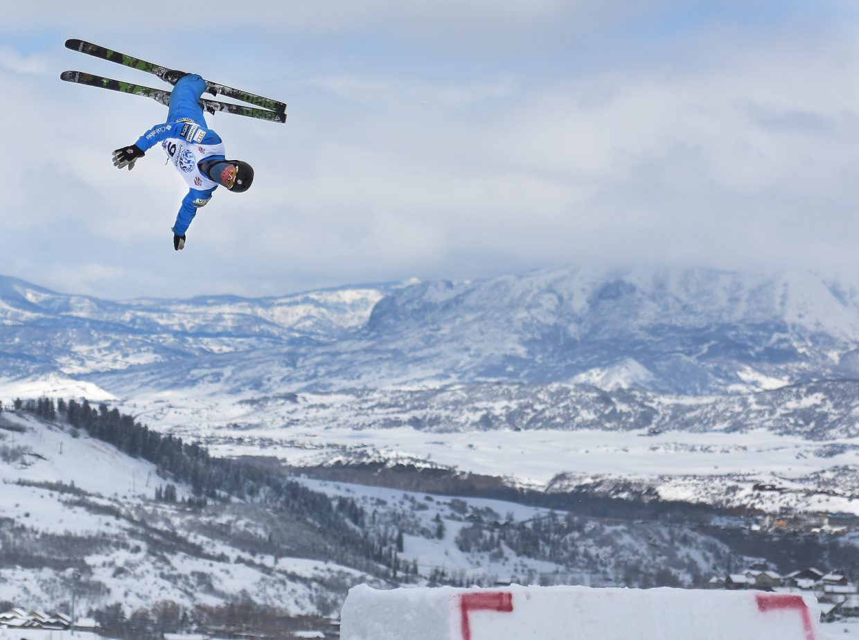 Michael Lillis practices ahead of Saturday's event at the U.S. Freestyle Championships in Steamboat Springs.