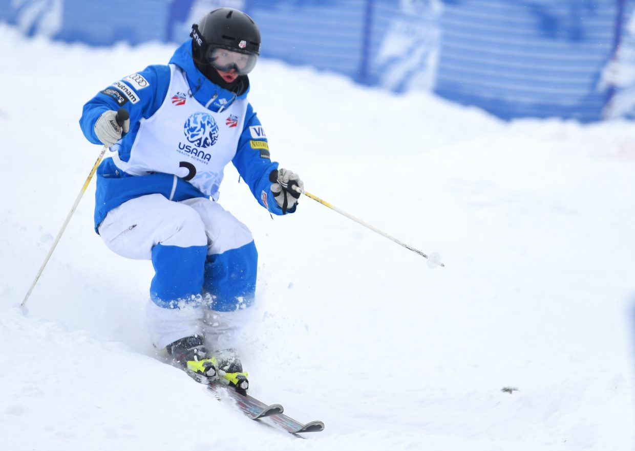 Steamboat ski Jaelin Kauf skis Friday in the U.S. Freestyle Skiing Championships in Steamboat Springs.