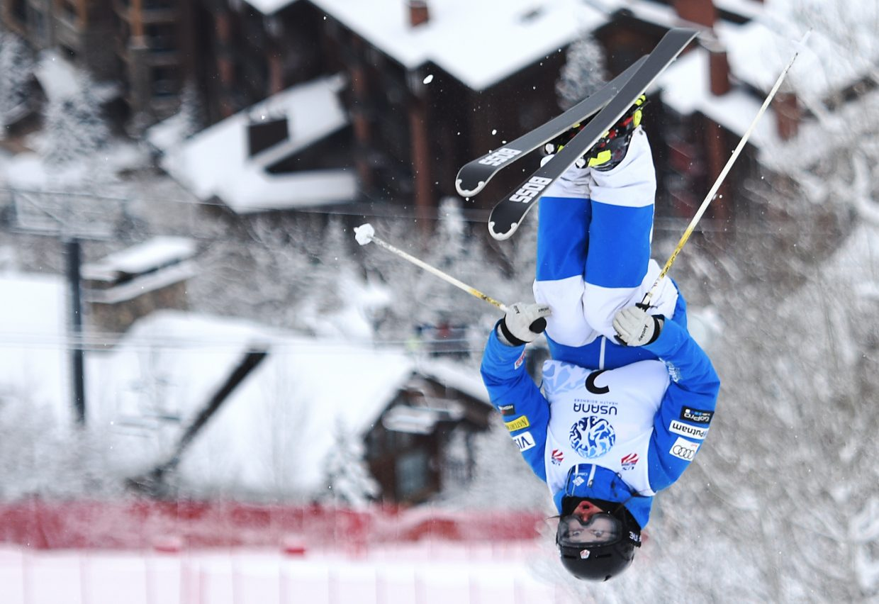 Steamboat's Jaelin Kauf flies high during the U.S. Freestyle Skiing Championships in Steamboat Springs.