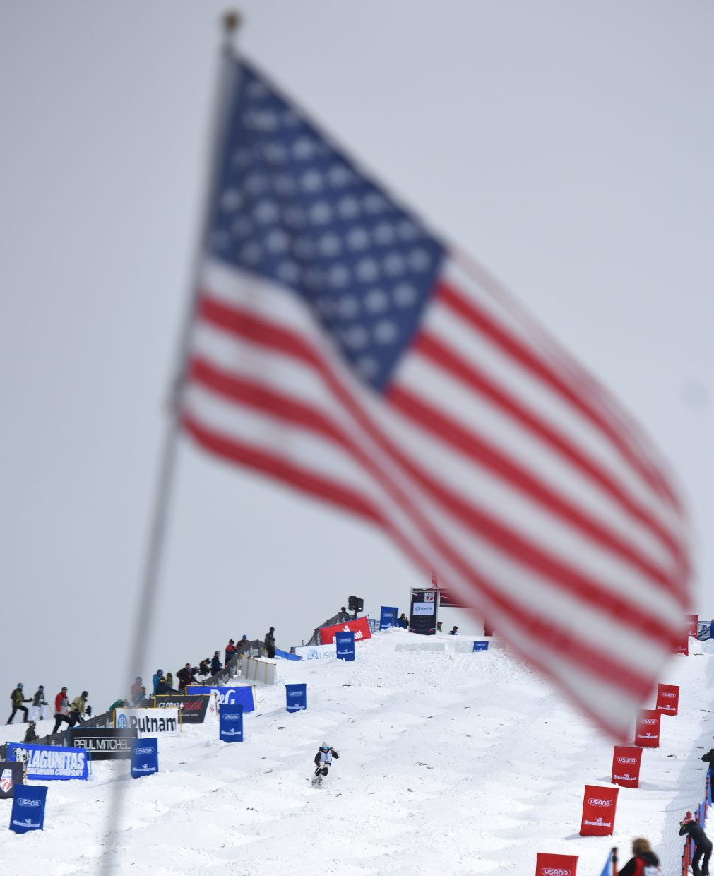 Olivia Giaccio skis down Voo Doo run at Steamboat Ski Area Friday during the women's moguls national championships.