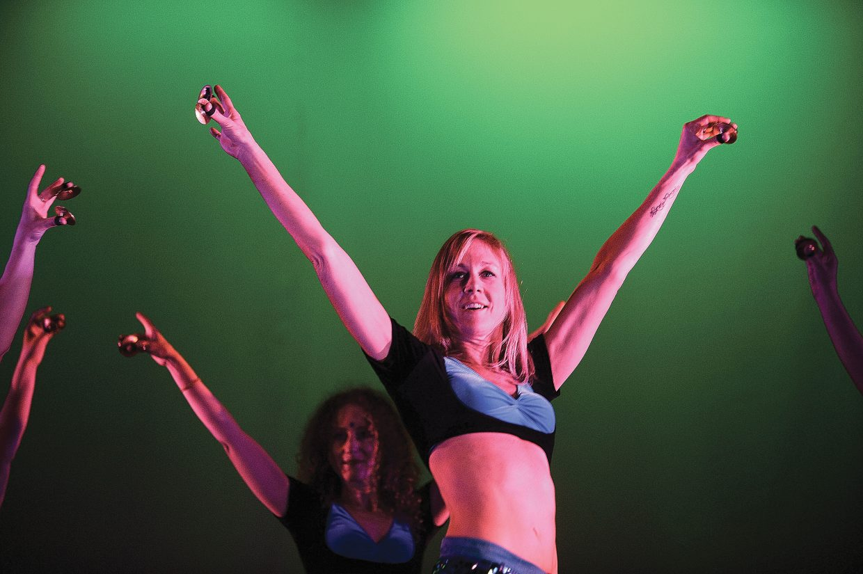 Dancer Traci Smith performs at a rehearsal for