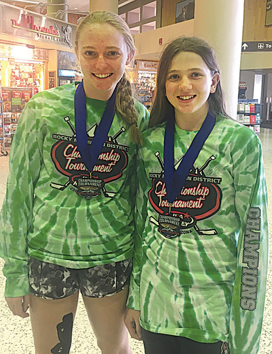 Steamboat Springs' Alexa Paoli, left, and Lillie Armstrong were part of the Aspen Leaf's U14 AA girls hockey team that won a regional tournament in Phoenix last weekend.