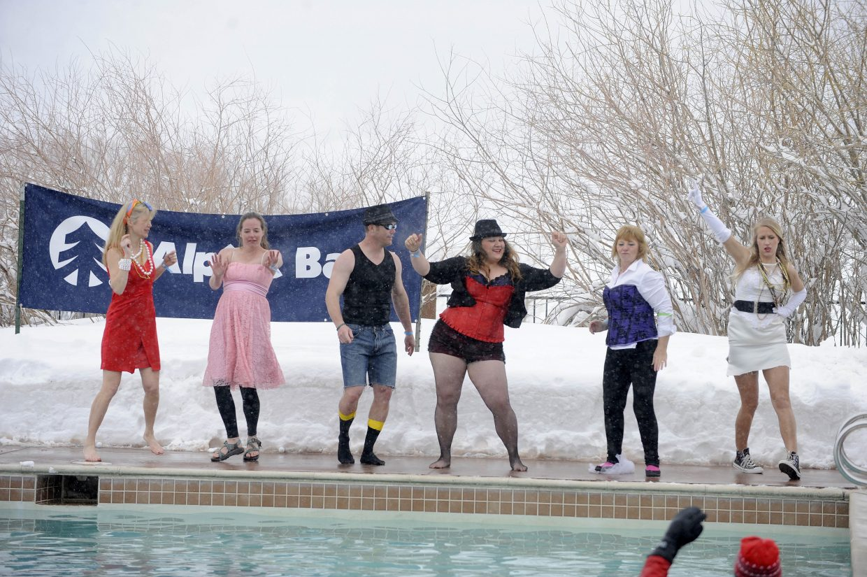 The Madonnas perform during the Penguin Plunge.