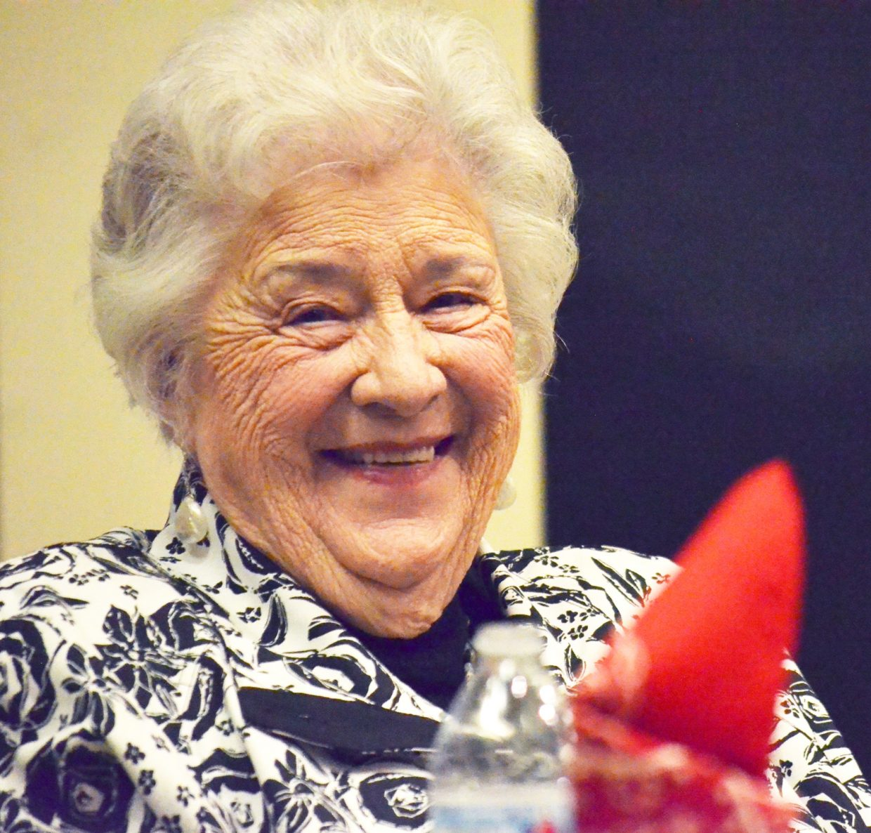 """Former Hayden area dairy farmer Olive Blake told an audience at Bud Werner Memorial Library during Agriculture Week that """"The farm life is the best life, because you do things as a family."""""""