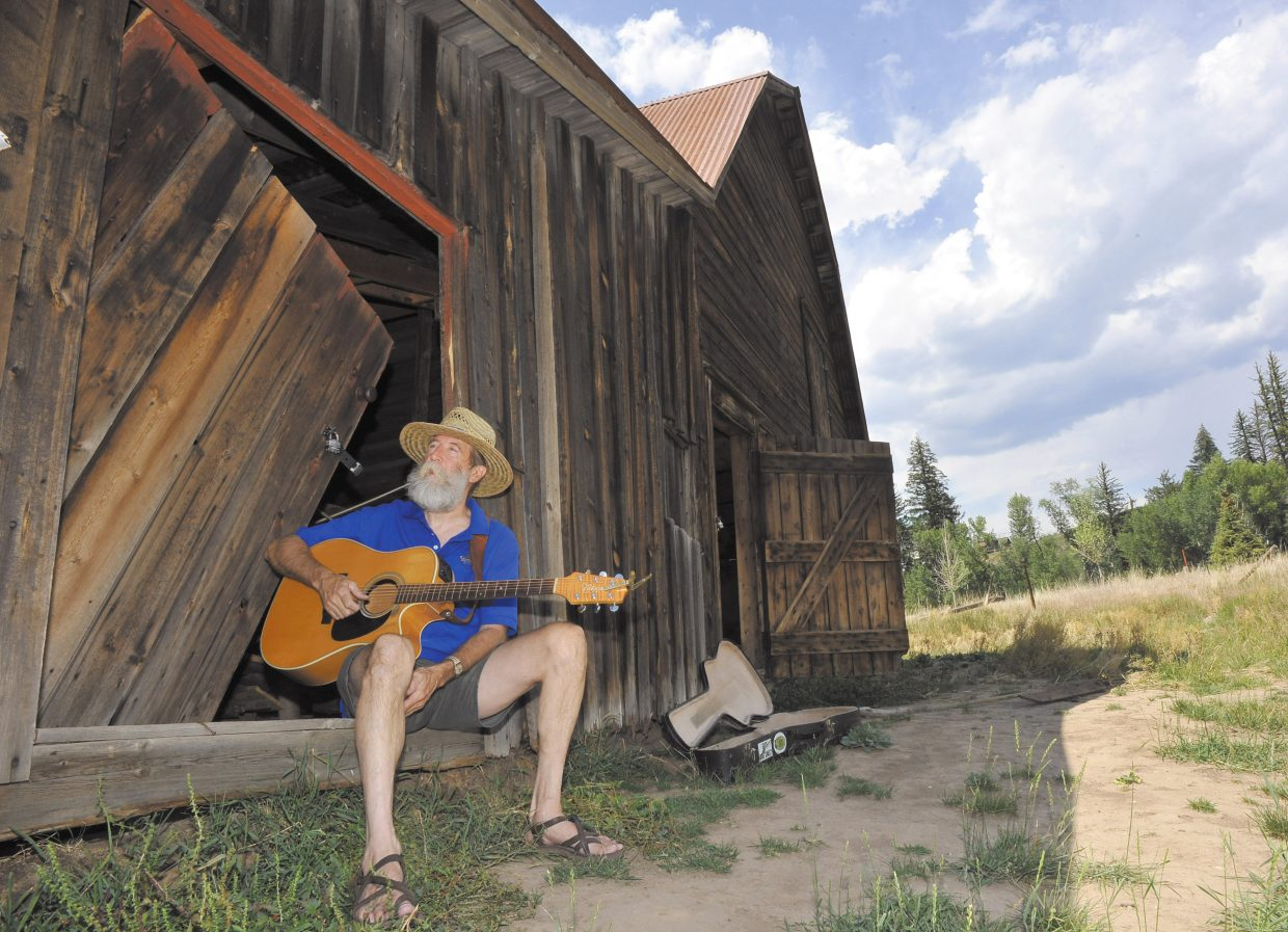 """Musician Jed Clampit, pictured here in Routt County in 2012, will perform at Steamboat's Chief Theater on Tuesday and Craig's J.W. Snack's Bar & Grill on Friday. Clampit, of Fayetteville, Ark., played his genre of """"front porch contemporary"""" regularly in Northwest Colorado in the 1980s and '90s, as well as with less frequency in recent years."""