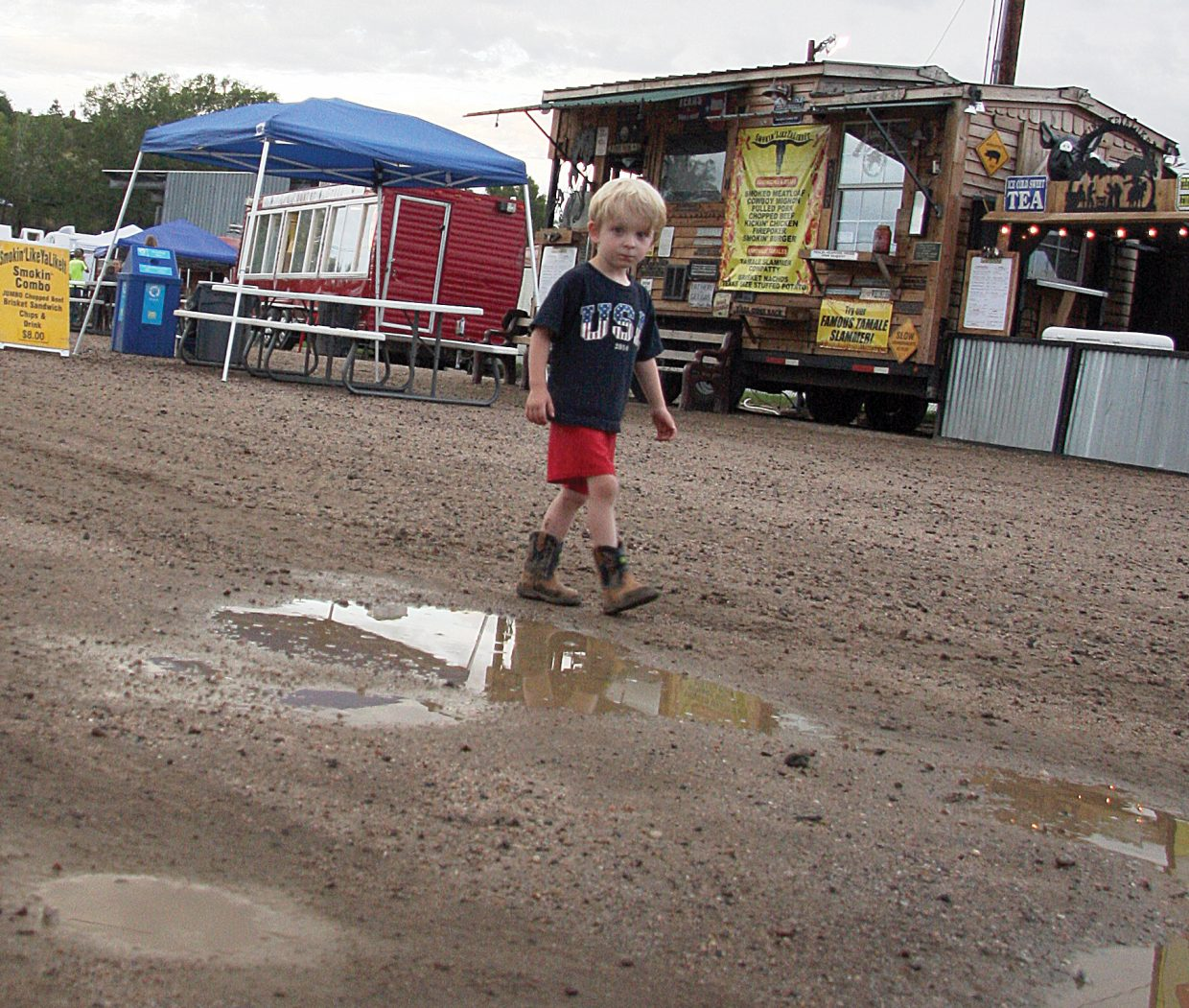 It's not a bad idea to have a good pair of boots in order to navigate the midway at the Routt County Fair some years. When it rains, visitors must avoid mud puddles in the areas where vendors set up tents and sell food and crafts to the visitors. A new GoCo grant will help solve that problem at the fairgrounds in Hayden.