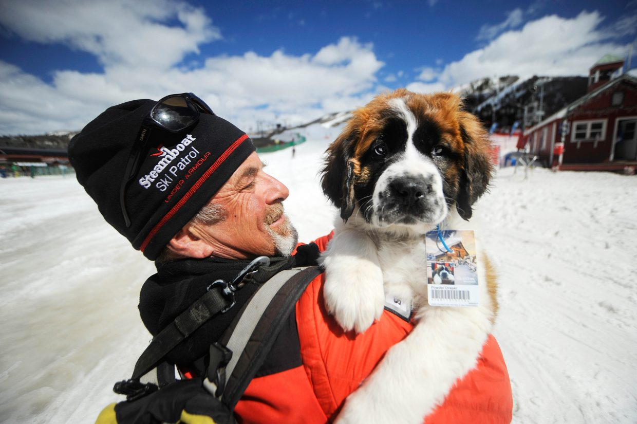 This week, skiers at Steamboat Ski Area were introduced to the newest skier safety dog named Powder.