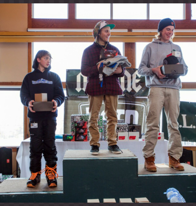 Myles Silverman won his age group in the Sugarloaf Banked Slalom in Maine. He also placed fourth out of 150 finalists.