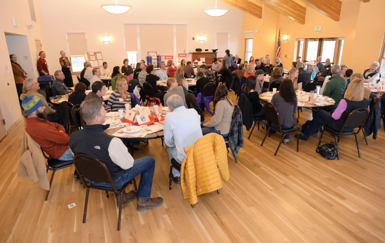 The dining room at the Steamboat Springs Community Center was packed Wednesday morning for the annual Celebrate Agriculture Breakfast. The breakfast gave participants a comprehensive look at how agriculture affects and aligns with local businesses and provided a way for the agricultural community to express its appreciation to local businesses for their effort to sustain and promote agriculture in the region.