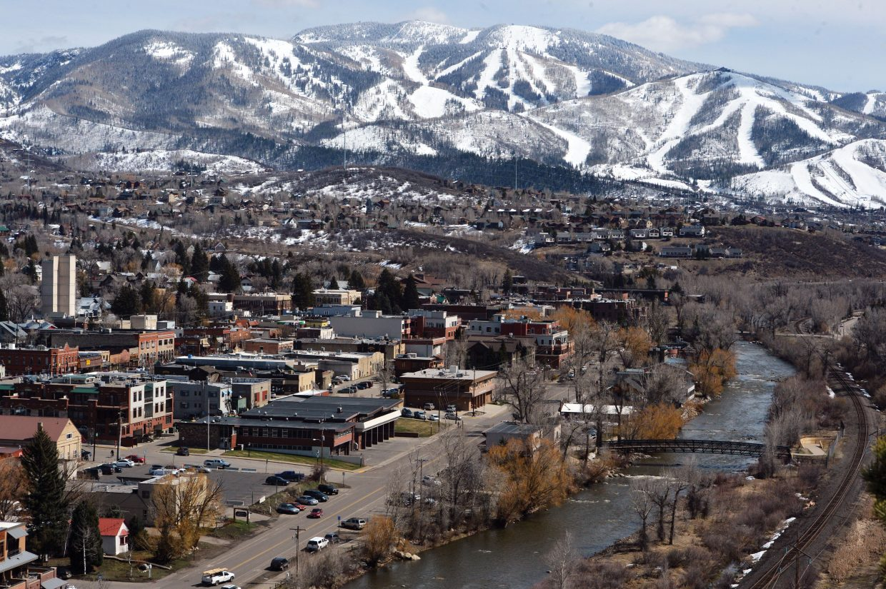 Despite snow earlier in the week, it was hard to find any in downtown Steamboat Springs Thursday afternoon. Warm temperatures and blue sky dominated Thursday's weather as spring returned to the Yampa Valley.