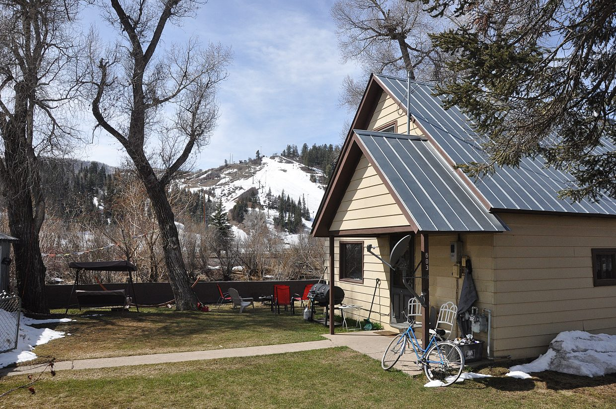 The Workman property on Yampa Street is being converted into a public park.