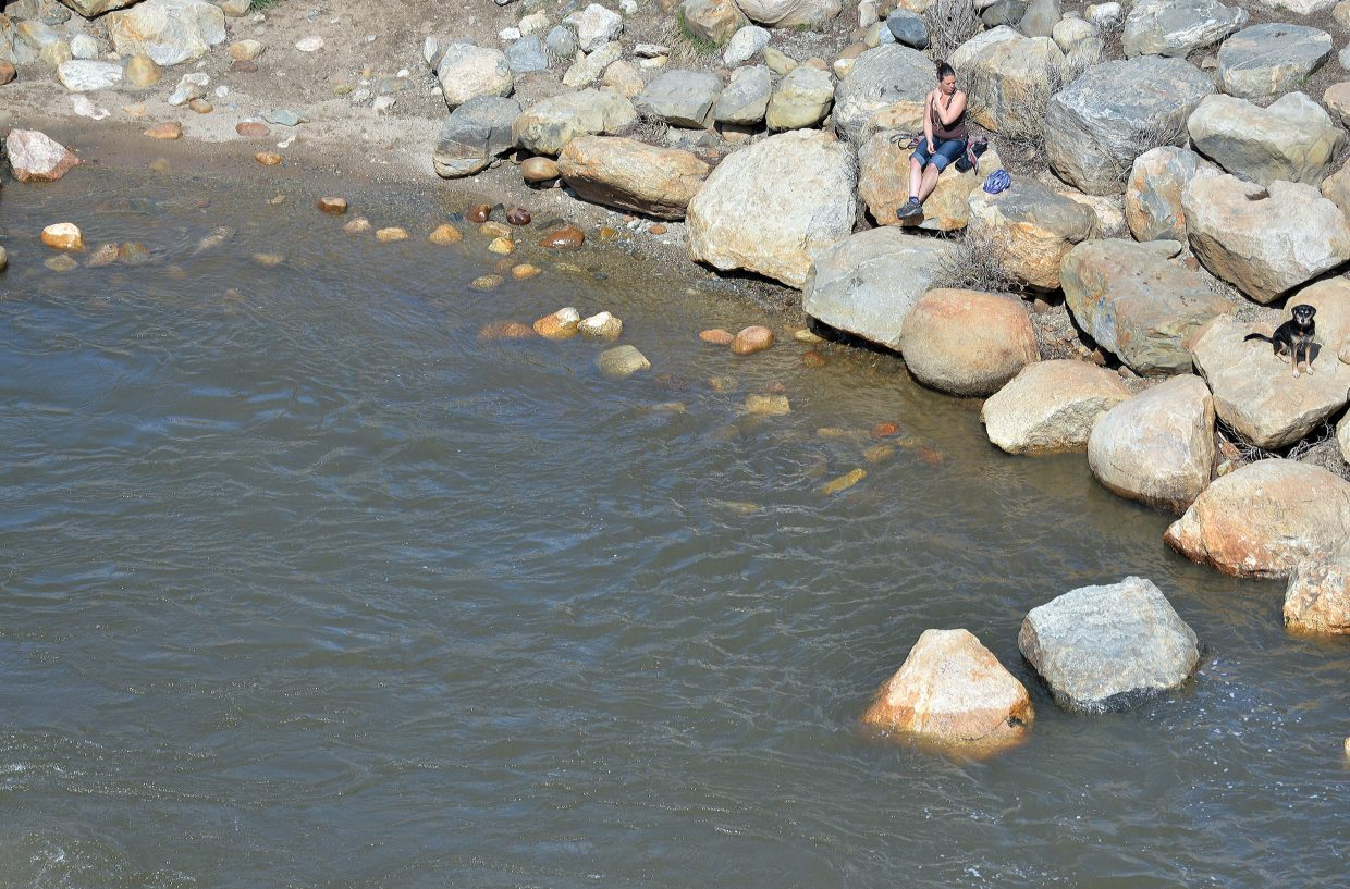 Thursday proved to be a great day to sit on the banks of the Yampa River.
