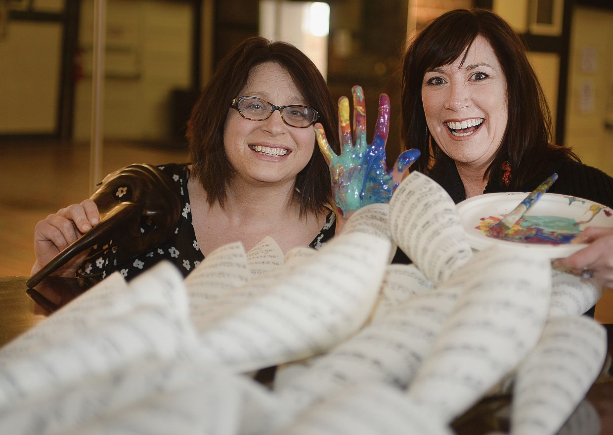 Mical Hutson, left, and Kim Keith have stepped into their roles as the Steamboat Springs Arts Council co-directors. The two are looking to the future and keeping all of the arts in mind.