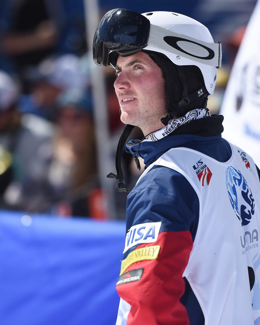 Steamboat Springs skier Jeremy Cota looks back up the moguls run Friday after he threw him for a loop. He qualified third, but couldn't finish his finals run.