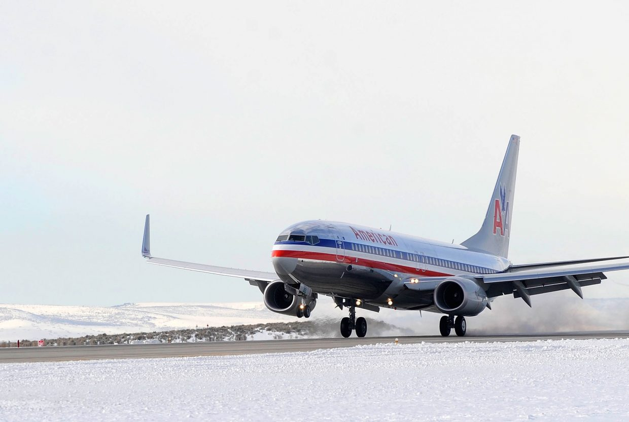The number of airline passengers traveling from Yampa Valley Regional Airport from December 2014 through February is up over the same three-month period a year ago.
