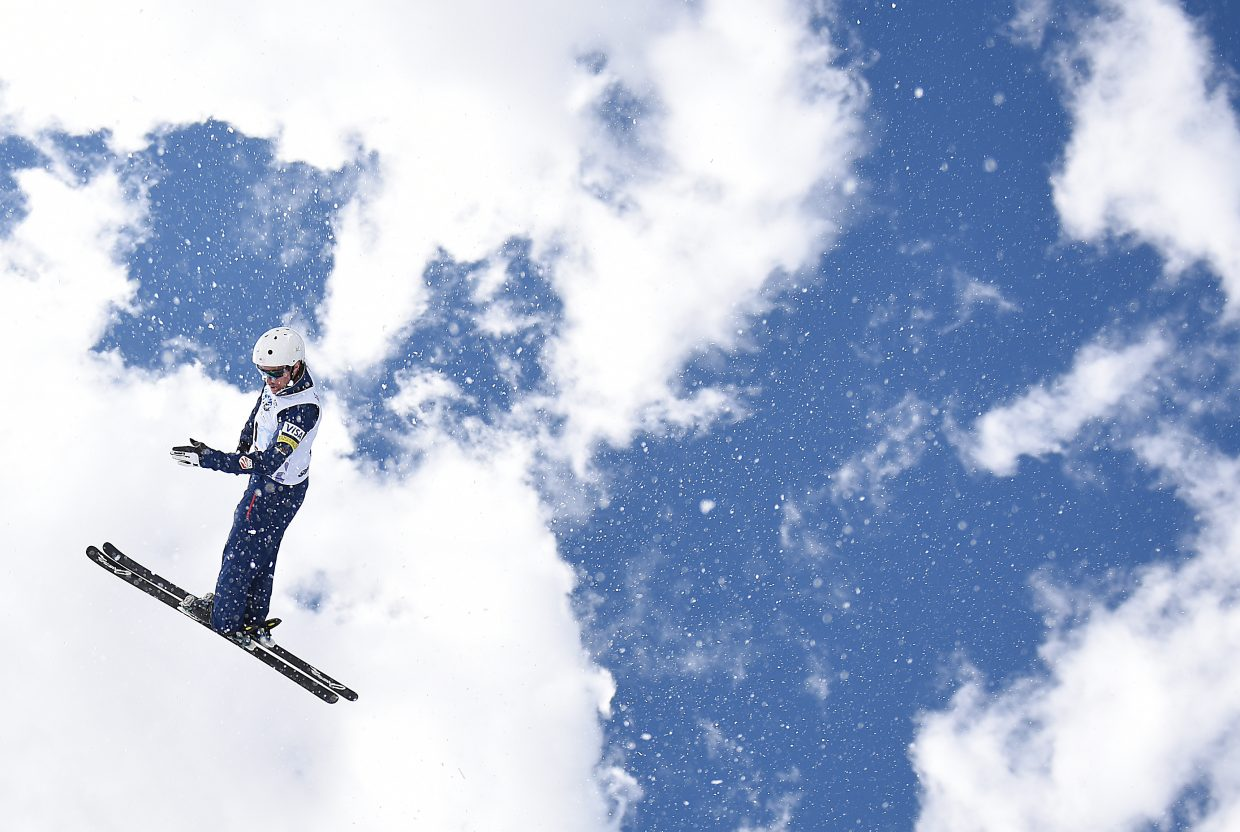 Mac Bohonnon flies Saturday in Steamboat Springs. He went on to win the men's aerials national championship.