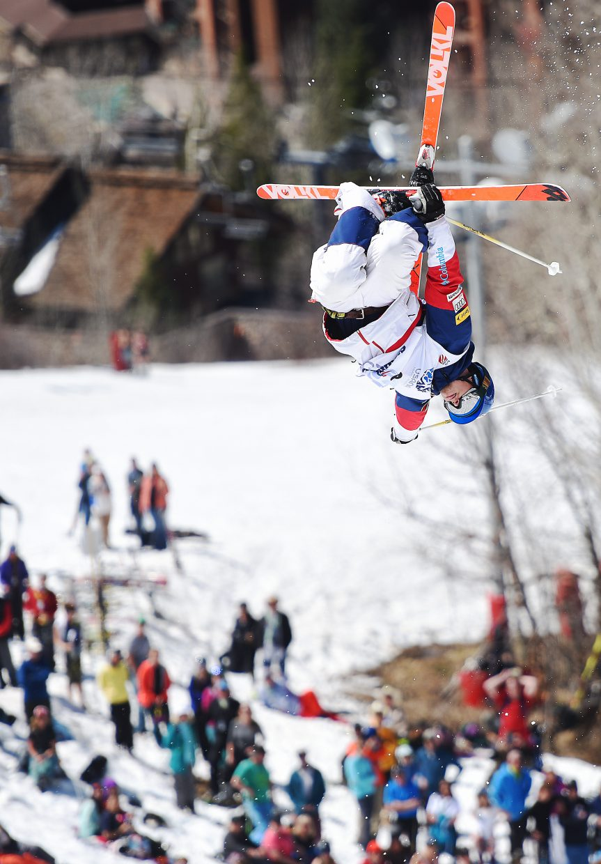 U.S. Ski Team skier Joey Discoe competes Sunday at the U.S. Freestyle National Championships in Steamboat Springs.