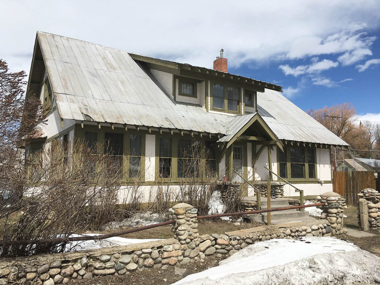 The Carver House at 207 Ninth St. at the intersection of Oak Street, now known as Cloverdale Restaurant, is a rare example of a half-timbered craftsman style home in Steamboat Springs.