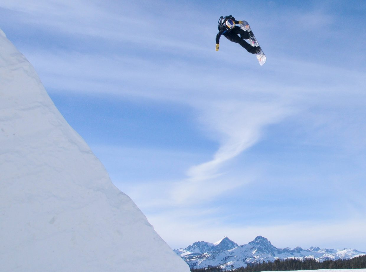 Steamboat Springs snowboarder Nik Baden flies high while preparing for an event earlier this year. Baden is fresh off a fifth-place finish at a big event in Andorra and earlier this season competed in China and Norway.