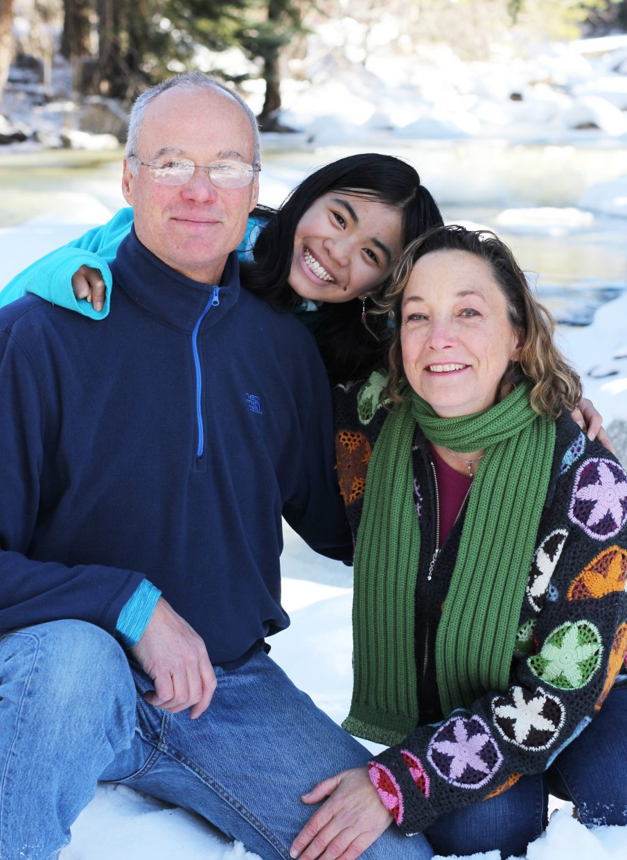 Zofia Stroman, center, was adopted from China as a toddler by parents Larry and Tara Stroman in 2005. Now a seventh-grader at Steamboat Springs Middle School, Zofia and her family will travel to China on a heritage trip in June.