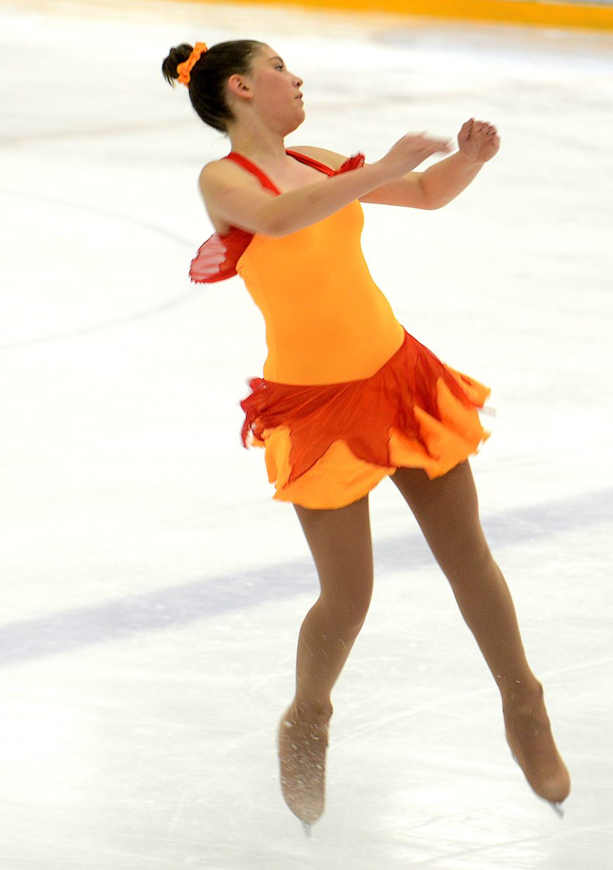 Sage Turek skates Sunday during the Spring Ice Show at Howelsen Ice Arena in Steamboat Springs.