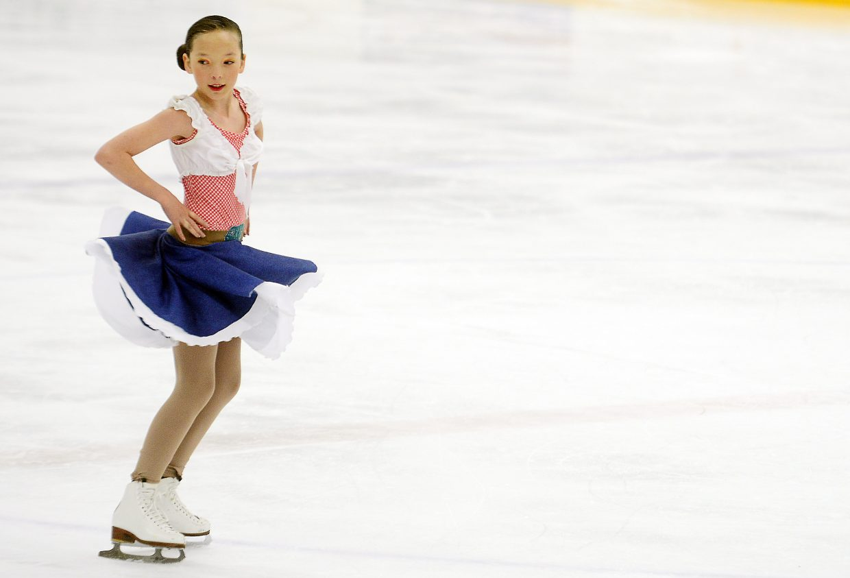 A skater performs Sunday during the Spring Ice Show at Howelsen Ice Arena in Steamboat Springs.