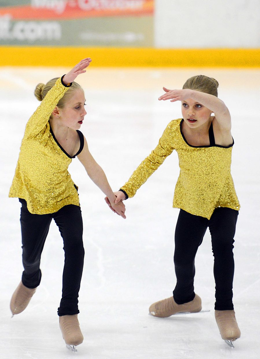 Madison and Serena Van Engelenhoven perform Sunday during the Spring Ice Show at Howelsen Ice Arena in Steamboat Springs.