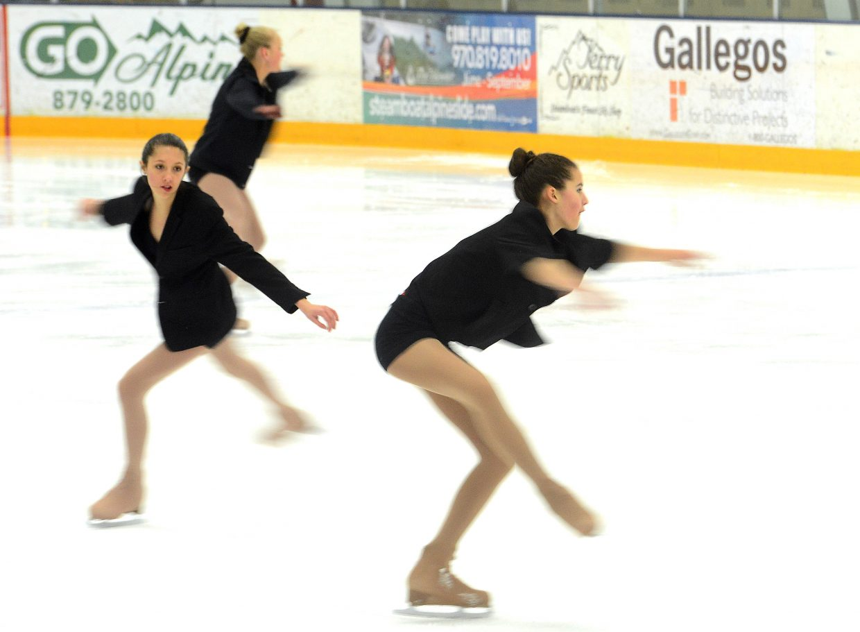 Skaters perform Sunday during the Spring Ice Show at Howelsen Ice Arena in Steamboat Springs.