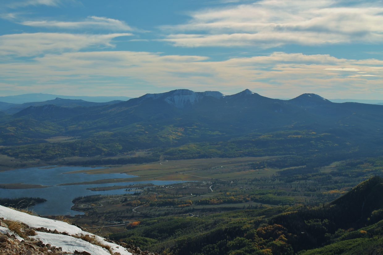 Steamboat Lake and Sand Mountain from Hahn's Peak. Submitted by: Brian Savoie