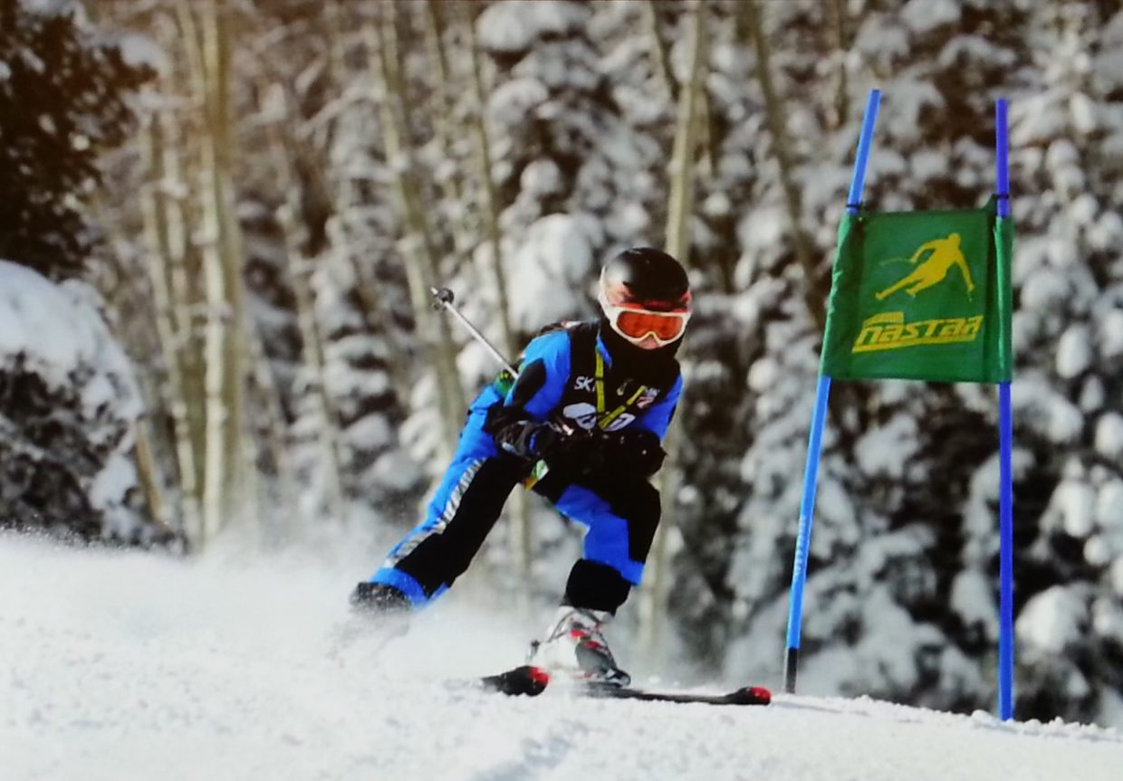 Jackson Lewer won the gold medal in the bronze division at the 2014 NASTAR National Championships last weekend in Aspen.