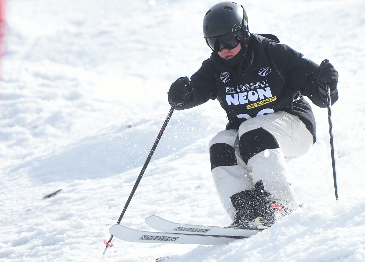 Steamboat's Tyler Strnad skis Friday in the U.S. Freestyle National Championships.