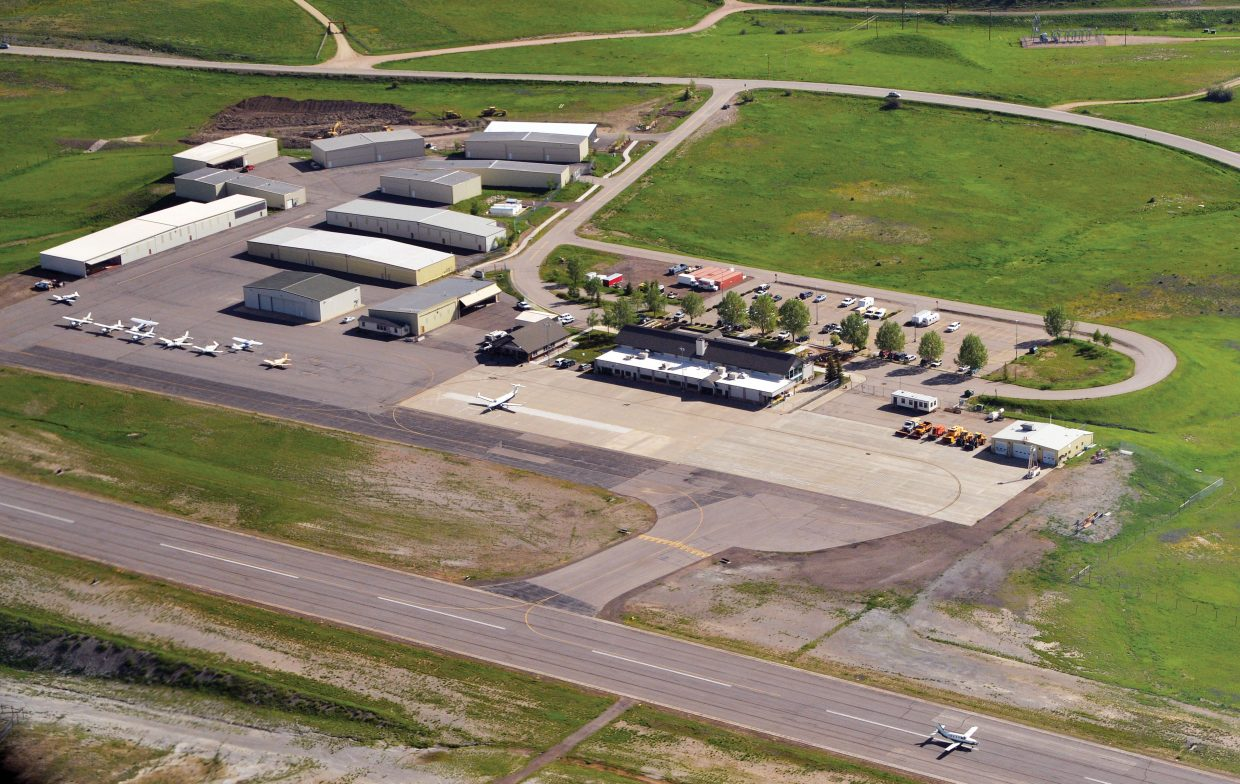 The Steamboat Springs Airport as pictured from above.
