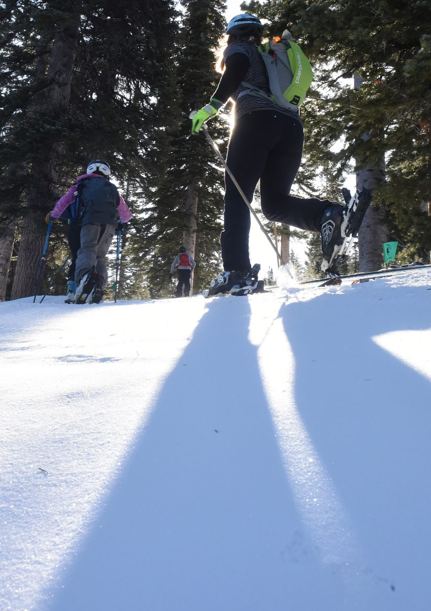 Skiers race Saturday during Cody's Challenge.