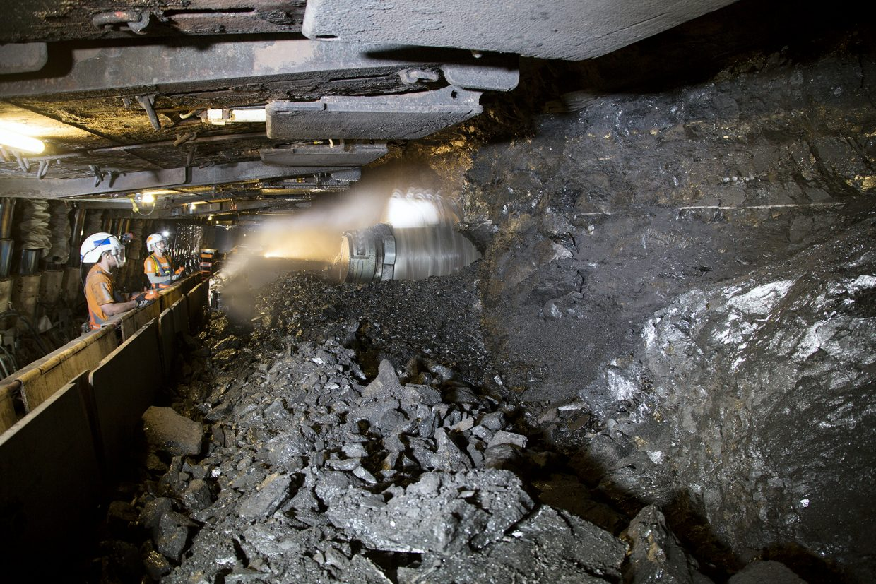 A team at the Twentymile Mine in west Routt County operates the longwall coal mining system that produced 2.6 million tons of coal in 2016. Peabody Energy, Twentymile's parent company, announced April 4 it had emerged from bankruptcy.