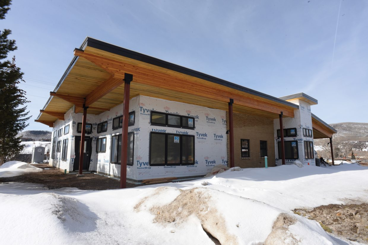 Once the snow melts and the temperatures warm up, construction crews will finish the outside of the newly remodeled South Routt Medical Center in Oak Creek. The inside is nearly complete, and staff is expected to move in April 11.