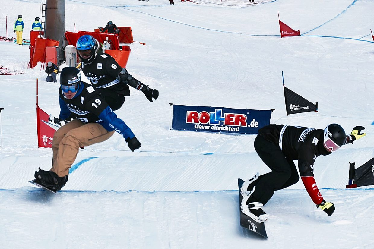 Steamboat Springs snowboarder Mick Dierdorff, left, is hoping to parlay a strong finish to this season into qualifying for the 2018 Winter Olympics.