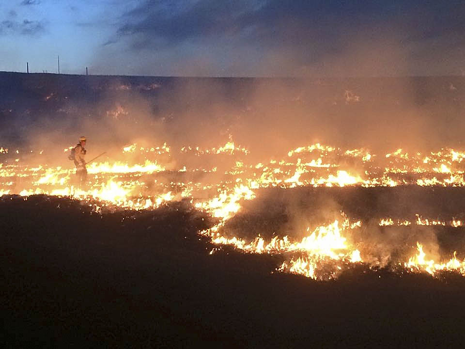 West Routt Fire Protection District firefighters did wildfire training Tuesday night.
