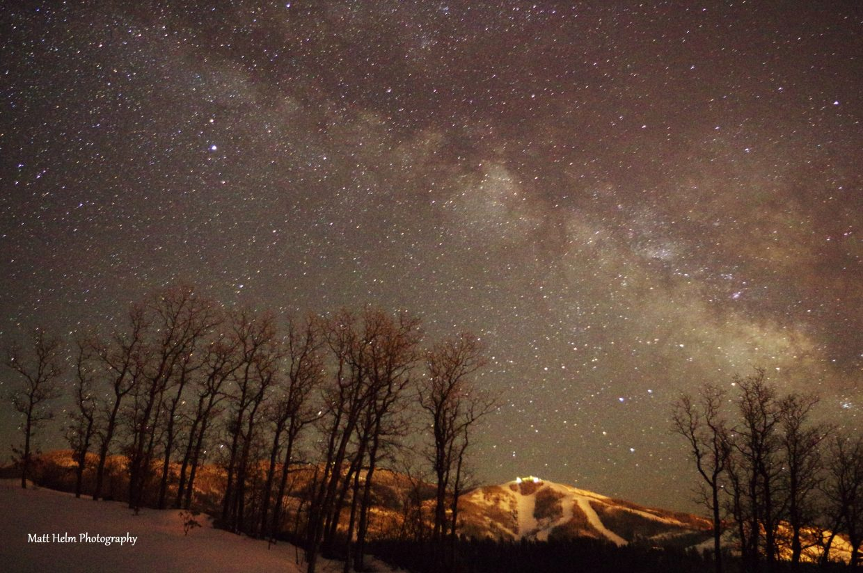 Just a few Milky Way shots from this morning between 3 and 5a.m. from Stagecoach Lake, and Boulder Ridge in Steamboat. Submitted by Matt Helm.