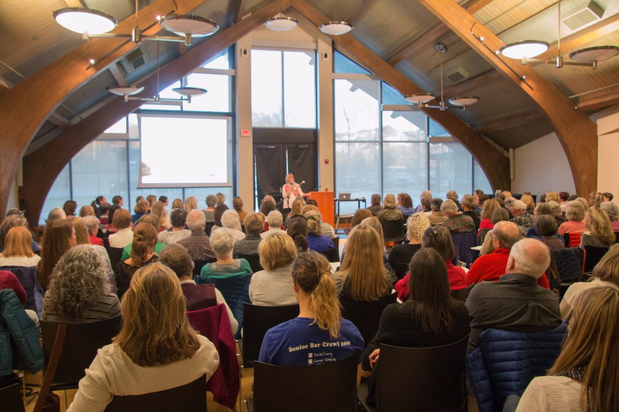 About 200 people attended a March event for the Choose When project, which featured speaker Isabel Sawhill.
