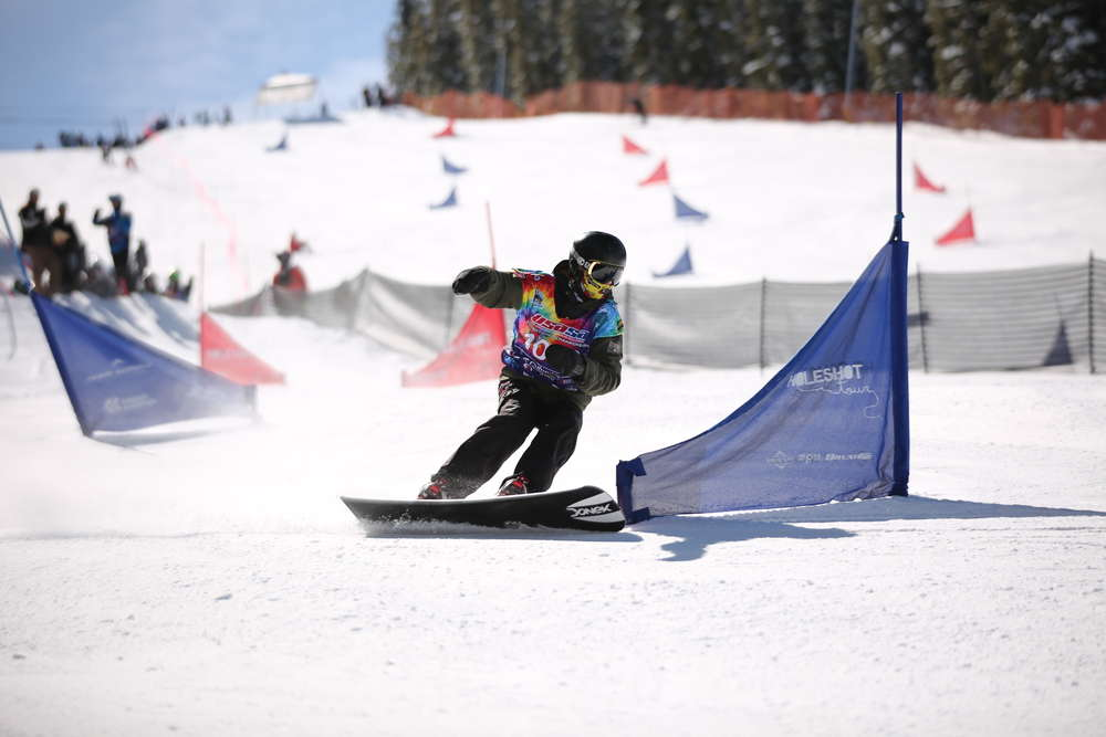 Winston Vaughan cuts down the course last week during the United States of America Snowboard and Freeski Association national championships at Copper Mountain. Vaughan was responsible for two of the Steamboat Springs Winter Sports Club's 32 top-10 finsihes at the event.