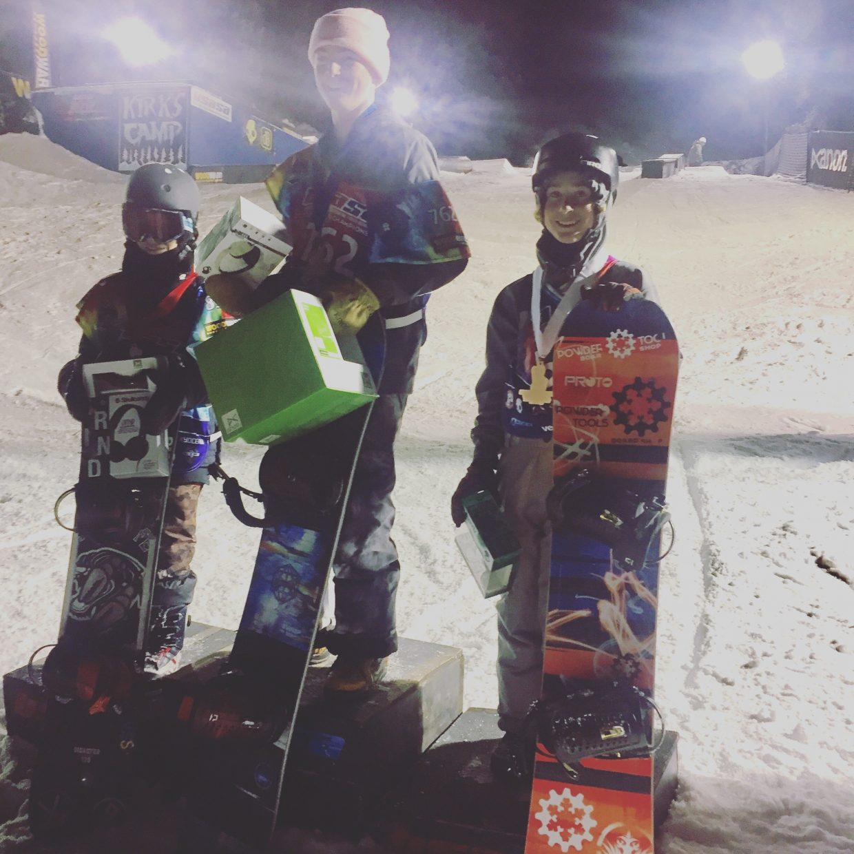 Marty Boyd placed third in a rail jam at USASA nationals.