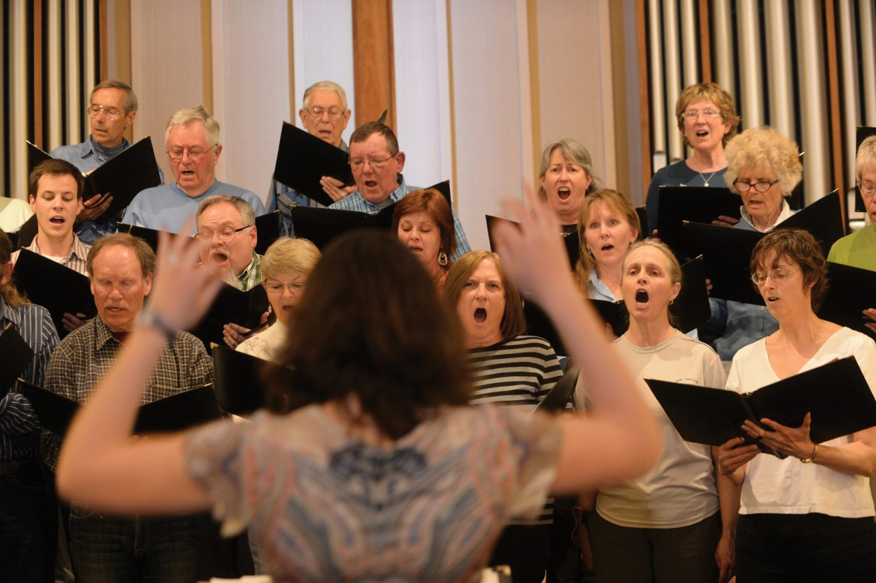 The Yampa Valley Singers rehearse for the group's spring performance. The Yampa Valley Singers will host its annual spring concert at 7 p.m. Friday and 4 p.m. Saturday at the United Methodist Church in Steamboat Springs.